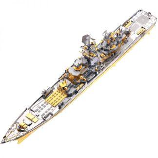 Piececool Russian Battlecruiser Pyotr Velikiy P110-GS 3D Metal Puzzle DIY Assemble Model Kits Laser Cut Jigsaw Toys