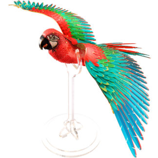 Piececool Scarlet Macaw With Stand 3D Metal Model Kits DIY Assemble Puzzle Laser Cut Jigsaw Toy (1)