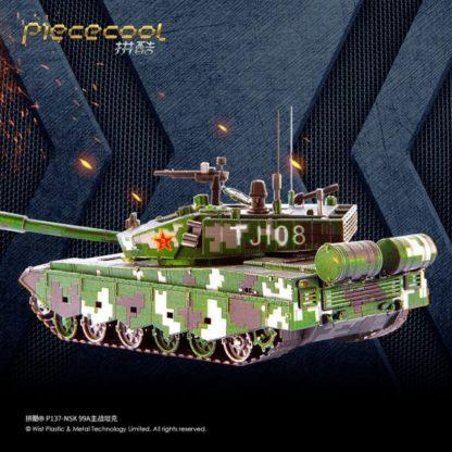 Piececool 99A Main Battle Tank 3D Metal Model Kits DIY Assemble Puzzle Laser Cut Jigsaw Toy P137-NSK (1)