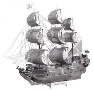 Piececool Black Pearl Pirate Ship 3D Metal Model Kits DIY Assemble Puzzle Laser Cut Jigsaw Toys P044-S (1)