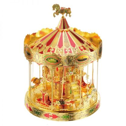 Specifications: Brand: Piececool Name: Merry GO Around Carousel 3D Metal Model Kits Model: P082-GRN Material: Stainless iron Finish Size: 8.5 x 8.5 x 11.5 cm (3.4 x 3.4 x 4.5 inches) Color: Green Gold Red The Quantity of Sheets: 3 pcs The Number of pieces: 88 pcs Age: 14+ Degree of difficulty: ★★★★☆☆☆ Feature: Original design,No glue required. Condition: 100% brand new and good quality. Amazing details and wonderful DIY experience. Step by step image manual,east to follow. Note: Small parts should be kept away from children under 3 years old.Be careful of the sharp parts! Package Included: 1 x Piececool Merry GO Around Carousel P082-GRN 3D DIY Metal Model Kits Puzzle Toy 1 x English Instruction Manual