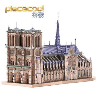 Piececool Notre Dame Cathedral Paris 3D Metal Model Kits DIY Assemble Puzzle Laser Cut Jigsaw Toys P161-BS (1)