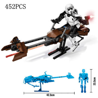 Disney Star War Scout Trooper Bike Building Block Figure Dolls Brick Toy For Children