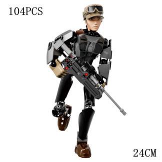Disney Star War Sergeant Jyn Erso Building Block Figure Dolls Brick Toy For Children